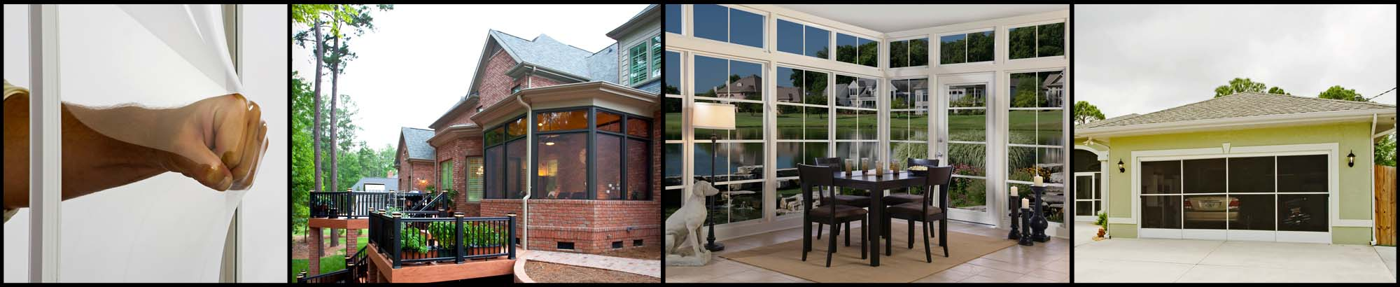Eze-Breeze Porch Enclosures, Garage Doors, Cabana Doors