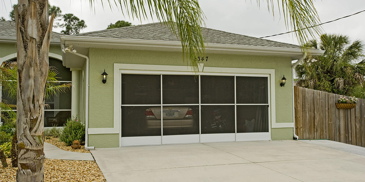 Side Slider Garage Door Screen Ss30 Eze Breeze Side Slider Garage Door Screen Enclosures Pgt Industries Custom Aluminum Vinyl And Impact Resistant House Windows Doors And Porch Enclosures